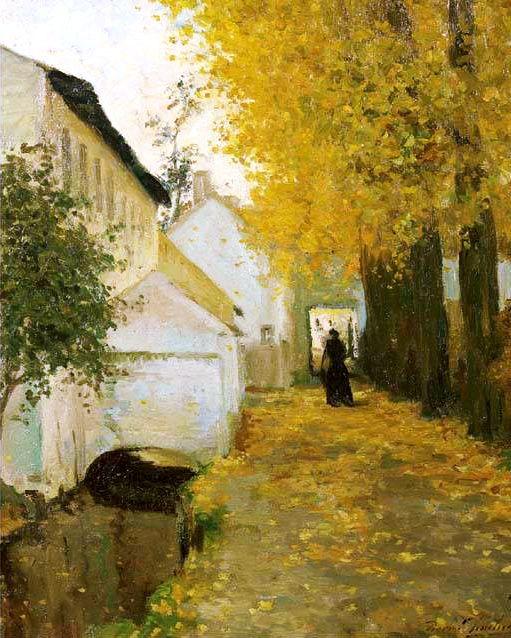 Autumn, Pierre Paulus de Chatelet (1881 - 1959), #art #autumn #trees