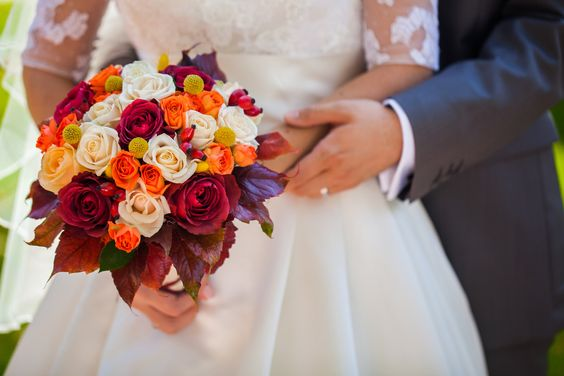 Autumn wedding bouqu