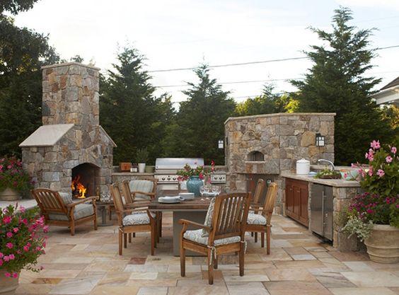 Cocinas exteriores para las noches de verano... ¡Qué aún quedan!
