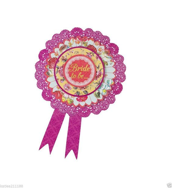 BUY THIS NOW AT http://www.ebay.co.uk/itm/New-hen-bride-vintage-classy-floral-shabby-chic-pink-rosette-badge-/201345479453?hash=item2ee120331d