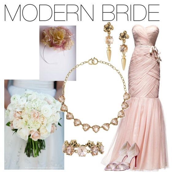 Modern Bride with Cheryl Drop Earrings, Somervell Necklace, and Amelie Bracelet