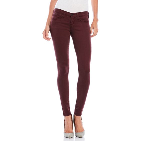 Flying Monkey Maroon Skinny Jeans ($40) ❤ liked on Polyvore ...
