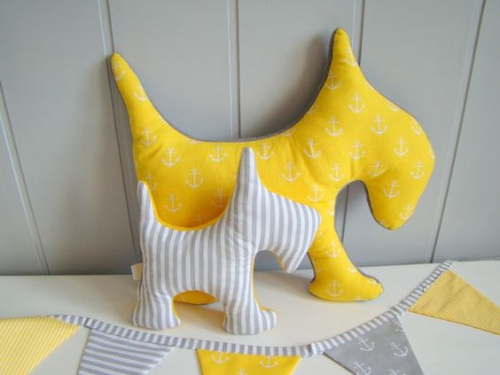 via en.dawanda.com Cushions – Set of 2 dogs. – a unique product by Ifffka on DaWanda