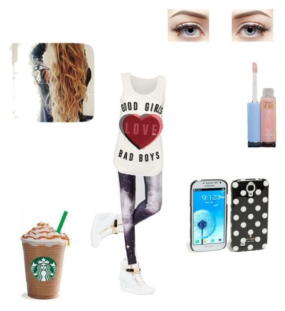 """""""Untitled #53"""" by smilez4755 ❤ liked on Polyvore featuring Giuseppe Zanotti, Chicwish, MAC Cosmetics and Kate Spade"""