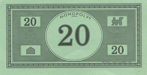Monopoly Money New Design 20 By Eli The Bearded Via
