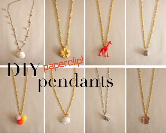 diy paperclip pendants!!!