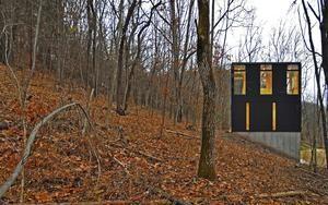 stacked cabin I muscoda, wisconsin