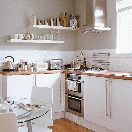 Küchen Küchenideen Küchengeräte Wohnideen Möbel Dekoration Decoration Living Idea Interiors home kitchen - Kleine weiße Küche / Esszimmer