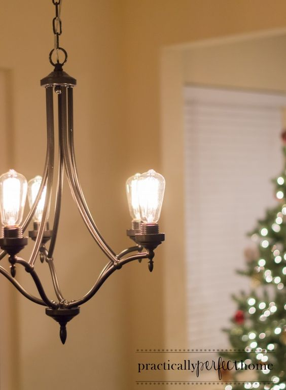 Up Lights Edison Bulb Chandelier With Metal For Interior Home Lighting Ideas