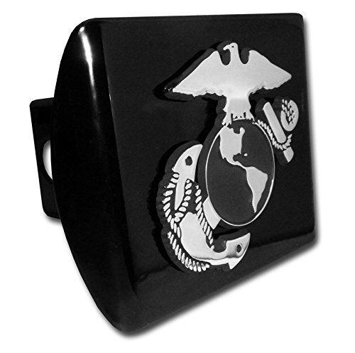 USMC Marine Emblem on Chrome METAL Hitch Cover