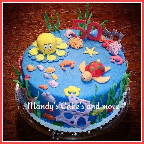 Unterwasserwelt-Torte https://m.facebook.com/mandykerncake dort findet ihr noch mehr Torten von mir ☺