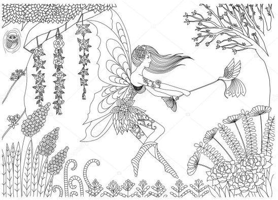 Ausmalbilder Feen Und Elfen Elfen Feengarten Malvorlagen Erwachsenen Kinder Painting Coloringpagesforkids Ausmalen Ausmalbilder Ausmalen Bunte Kunst