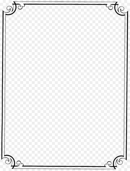 17 Fancy White Rectangle Png Decoration