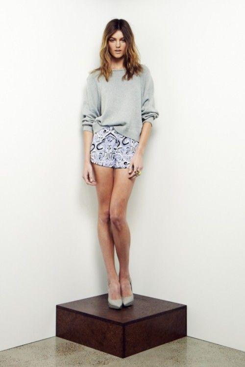 sweatshirt + heels