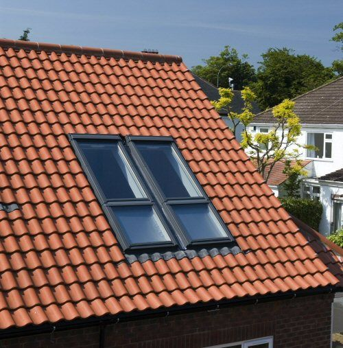 Clay Roof Tiles With Skylights Exteriormedics