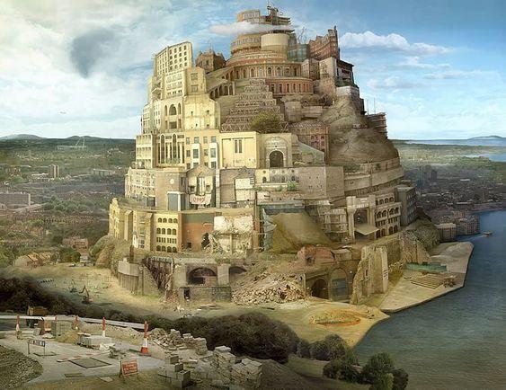 Emily Allchurch. La torre de Babel, sobre un original de Brueghel