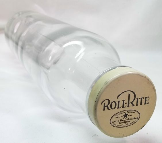 Vintage glass rolling pin