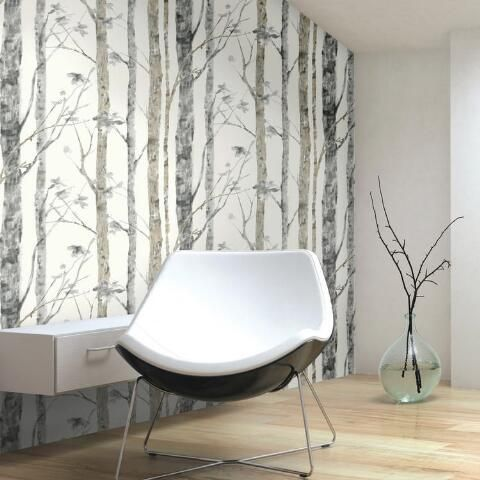 Woodland Forest Peel And Stick Wallpaper World Market In 2021 Peel And Stick Wallpaper Birch Tree Wallpaper Decor