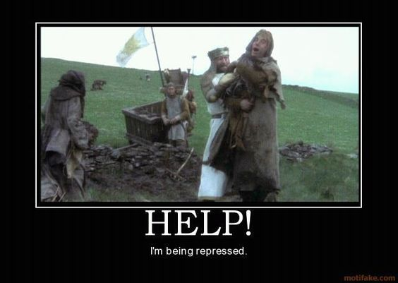 "Monty Python and The Holy Grail ""Help!"".  On bad days, I watch this movie and I feel better...:"