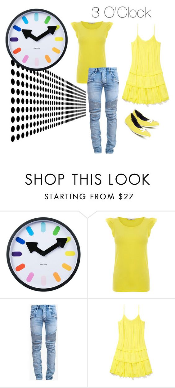 """""""3 O'Clock"""" by foreevers ❤ liked on Polyvore featuring Karlsson, Oasis, Balmain, Rebecca Minkoff and Jack Rogers"""
