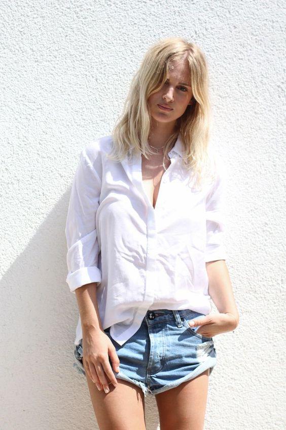 Mija Mija White shirt and cutoffs