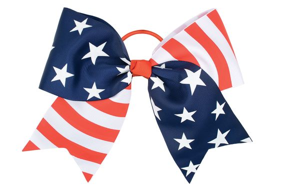 A head turning American Flag hair bow.