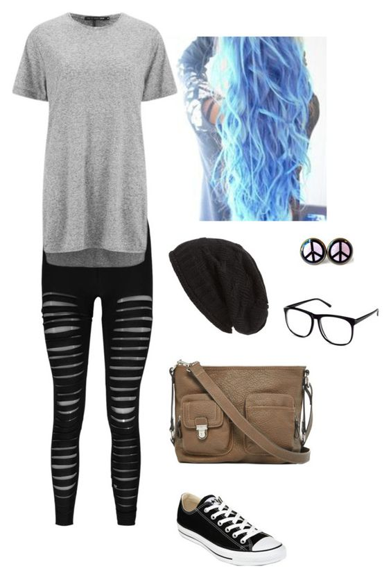 """""""Untitled #5453"""" by northamster ❤ liked on Polyvore featuring Mode, Boohoo, rag & bone, David & Young, Rosetti, Converse und H&M"""