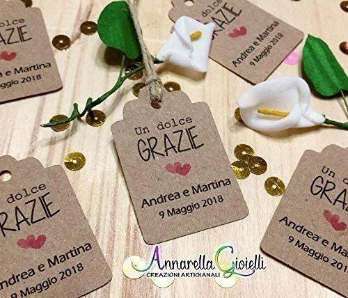 Cartellini Kraft Personalizzati Tag Bomboniere Avana Etichette Matrimonio Battesimo Comun Bomboniere Bomboniere Uniche Ringraziamenti Matrimonio Fai Da Te
