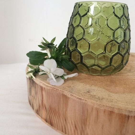 Sanded larch tree slice - rustic wedding table centre piece