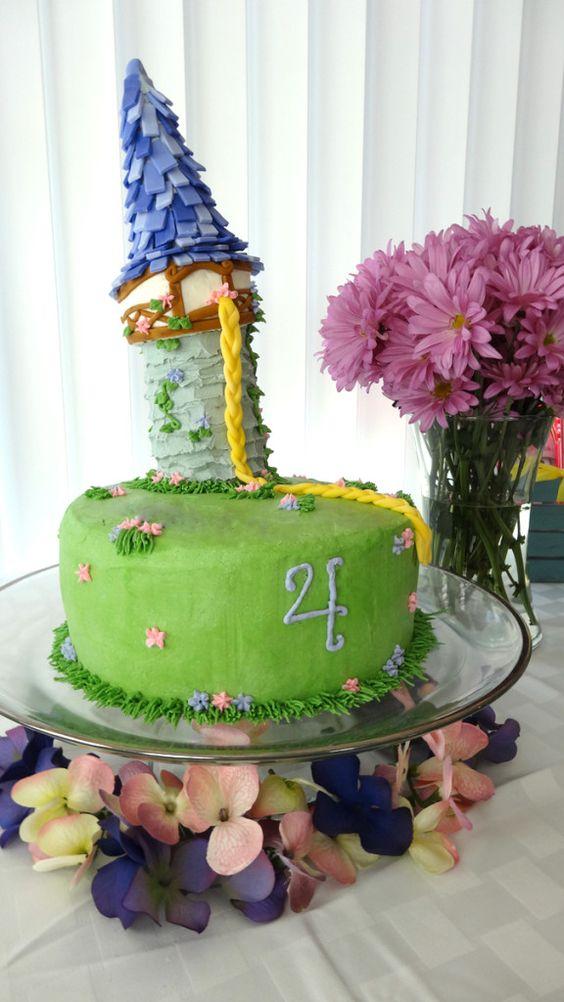 Tangled birthday cake, tower cake
