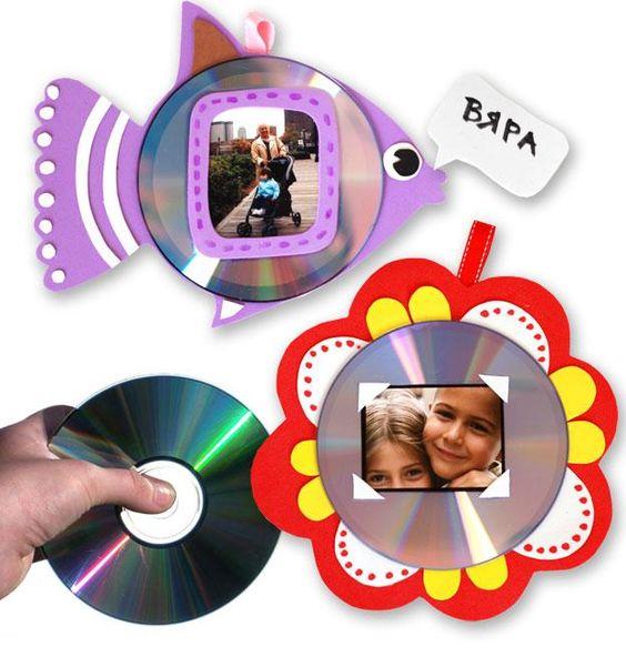Reciclagem e Sucata: Porta retratos com reciclagem de CD