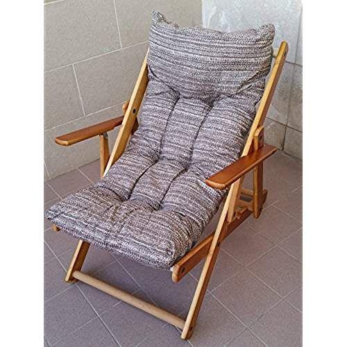 fauteuil relax en bois pliable avec