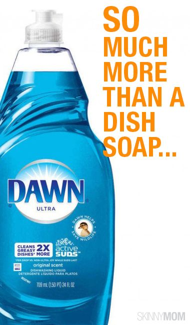 household hacks  dawn dish soap