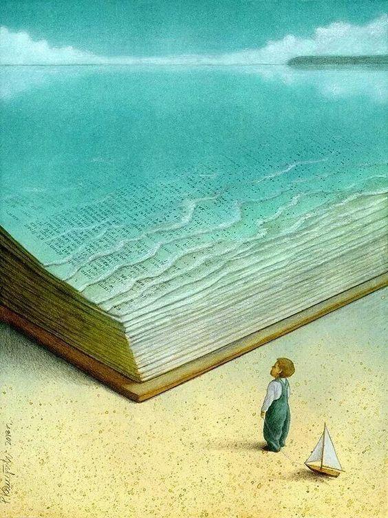Livros, uma imensidão, assim como o mar...