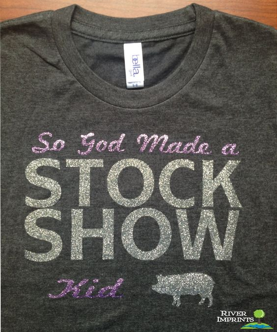Youth STOCK SHOW, youth girls fitted or youth regular sparkly tee shirt