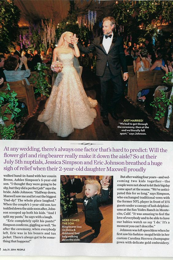 Get the look jessica simpson 39 s wedding gown glitter so for Jessica simpson wedding dress