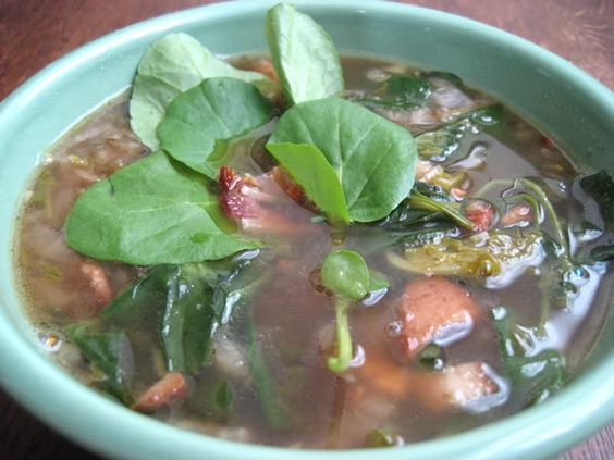 Watercress Bacon Soup