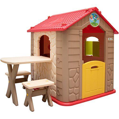 LittleTom Maison de Jeu de Jardin en Plastique Maisonnette ...