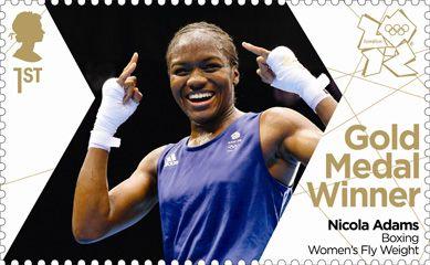 Nicola Adams Gold Medal Stamp