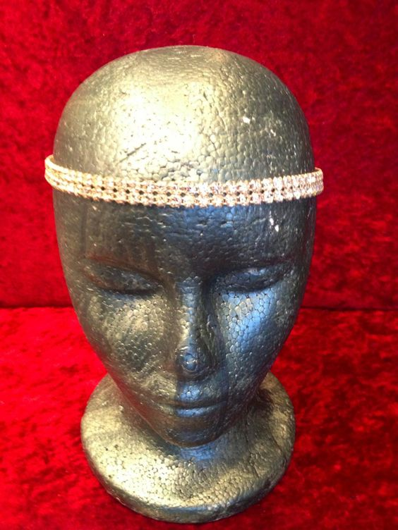 *Headband: Crystal double strand headband