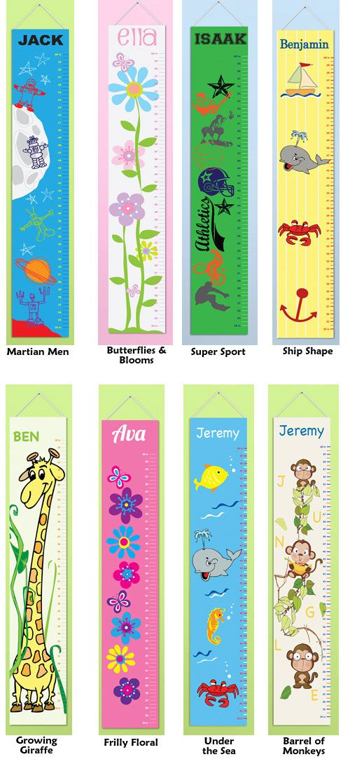Ombre Flowers Custom Canvas Growth Chart by MyArtsyBaby on Etsy - girls growth chart template