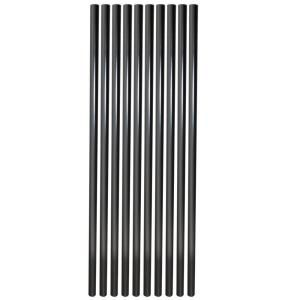 Veranda 30 in. Aluminum Round Baluster-Black (10-Pack)-RDBL3075BK at The Home Depot