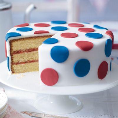 Waitrose Easy polka-dot Jubilee cake recipe.