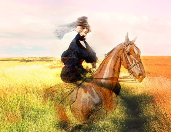 Sidesaddle through the grasses