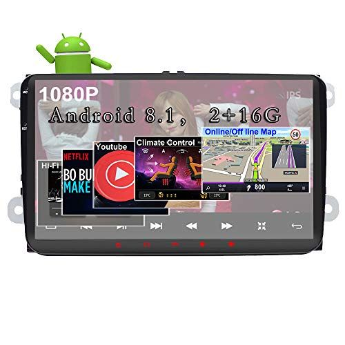 Android 8 1 Car Stereo For Volkswagen Vw 2 16g 9inch With Canbus Gps Navigation Head Unit Quad Cord Bluetooth Obd Wifi Mirr Gps Navigation Car Radio Car Stereo