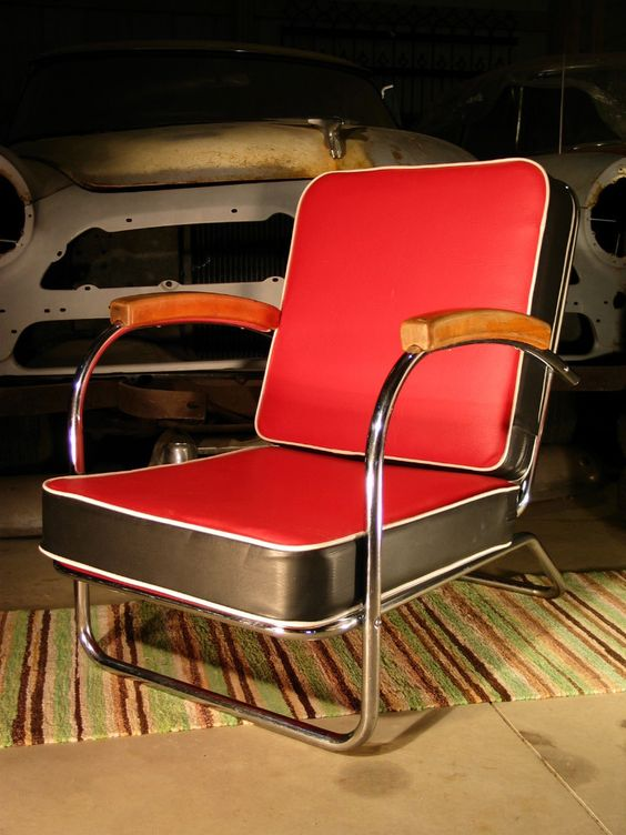 Lovely LLOYD ART DECO VINTAGE 1940u0027s MODERNE CHROME LOUNGE CHAIR CASUAL FURNITURE  | Art Deco, Lounge Chairs And Basement Family Rooms