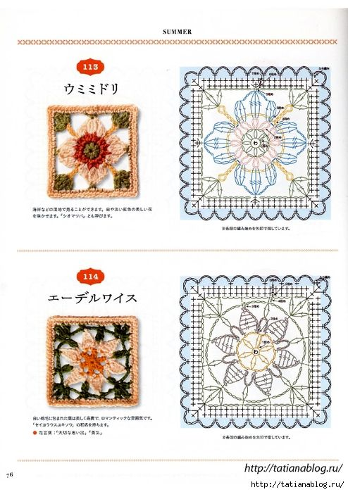 Flower Motif of Crochet 16_76 copy (494x700, 278Kb)