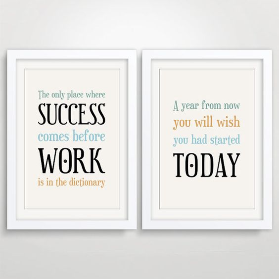 large office decor typography inspirational quote motivational wall art for an
