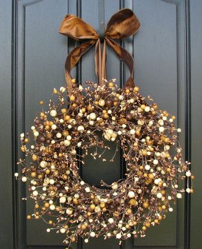 Fall Berry Wreath Roasted Marshmallow Smores Fall by twoinspireyou contemporary holiday decorations:
