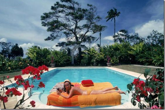 Slim Aarons shot of Pauline Haywood in Barbados